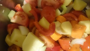 A marvelous tumble of healthy veggies makes this mum's heart sing